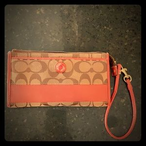 Full size coach wallet used